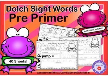 Dolch Sight Words - Pre Primer