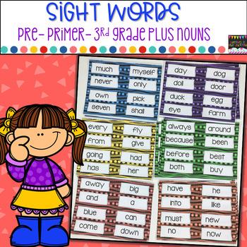 Sight Words Pre Primer-3rd Grade plus Nouns