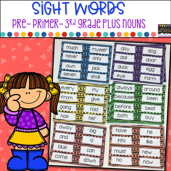 Sight Words Pre Primer-3rd Grade plus Nouns