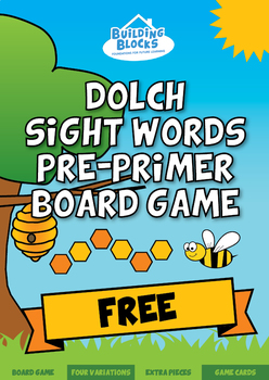 Dolch Sight Words Pre-Primer Board Games