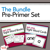 Dolch Sight Words Pre-Primer Books, Flashcards and Assessment Bundle