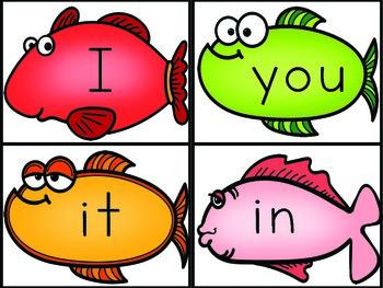 Sight Words Pre-Primer Fish