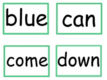 Dolch Sight Words Pre-Primer Flashcards
