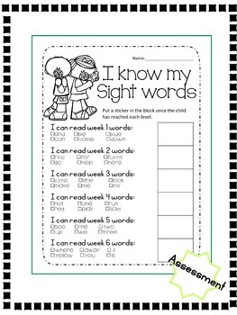Dolch Sight Words Pre-Primer Lesson
