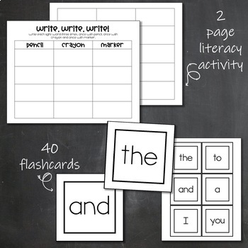 Dolch Sight Words- Pre-Primer- List, Bookmarks, Flashcards