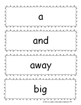 Dolch Sight Words - Pre-Primer to Grade 4 - Word Wall, Word Work, Writing, Bang!