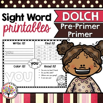 Dolch Sight Words:  Pre-Primer and Primer