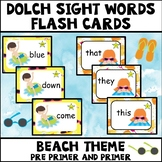 Dolch Sight Words Pre Primer and Primer Beach Theme