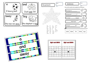 Dolch Sight Words Pre-Primer worksheets *Time savers*