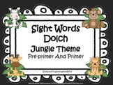 Word Wall: Sight Words Pre-Primer/Primer Jungle Theme