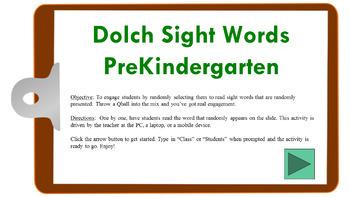 Dolch Sight Words (PreK) Randomized