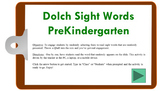 PPTM - Dolch Sight Words PreK (randomized activity)