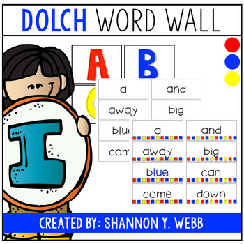 Dolch Sight Words (Primary Colors)