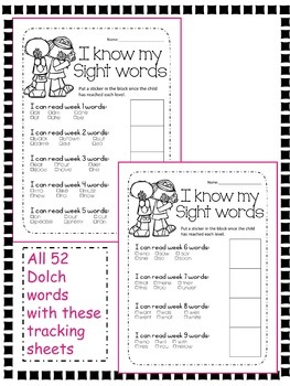 Dolch Sight Words Primer
