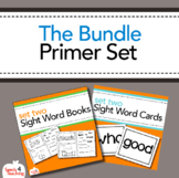 Dolch Sight Words Primer Books, Flashcards and Assessment Bundle