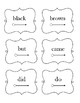 Dolch Sight Words Primer Cards