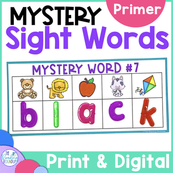 Sight Words Literacy Center - Primer Code Busters