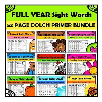 Sight Words - Primer List