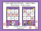 Dolch Sight Words Primer - Three in a Row - Winter Edition