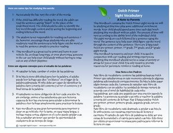 ESL/ELL Dolch Sight Words Primer words/phrases booklet