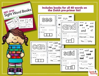 Dolch Sight Words Printable Books - Bundled