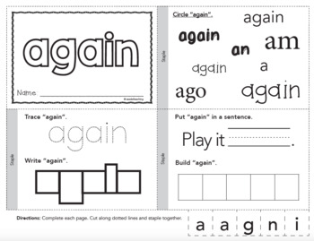 Dolch Sight Words Printable Books - First Grade Set