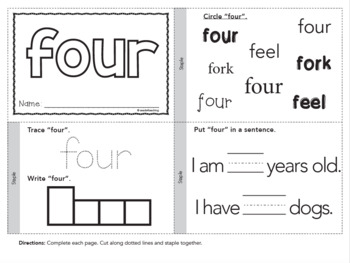 Dolch Sight Words Printable Books - Primer Set