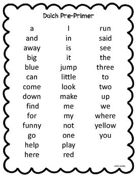 Dolch Sight Words: Progress Monitoring Sheets and Flash Cards