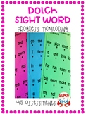 Dolch Sight Words Progress Monitoring (45 Assessments)