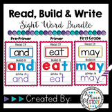 Kindergarten and First Grade Sight Words-Read, Build, and