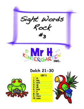 Dolch Sight Words Rock #3 (Dolch Sight Words 21-30)