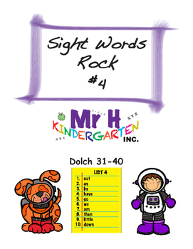 Dolch Sight Words Rock #4 (Dolch Sight Words 31-40)