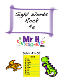 Dolch Sight Words Rock #5 (Dolch Sight Words 41-50)