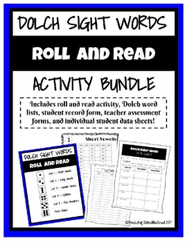 Dolch Sight Words Roll and Read Activity