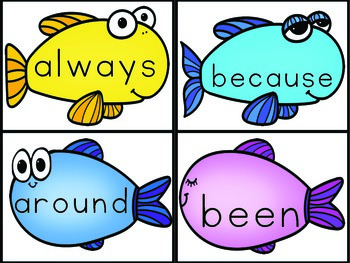 Sight Words Second Grade List Fish