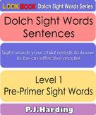 Dolch Sight Words Sentences. Level 1 Pre-Primer
