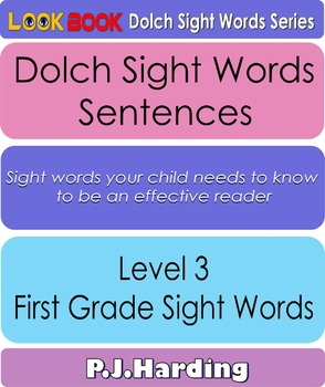 Dolch Sight Words Sentences. Level 3 First Grade