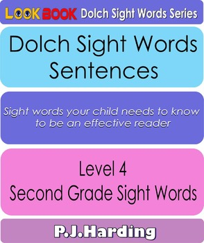 Dolch Sight Words Sentences. Level 4 Second Grade