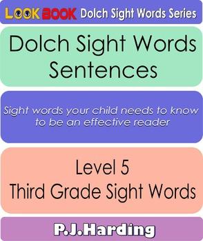 Dolch Sight Words Sentences. Level 5 Third Grade