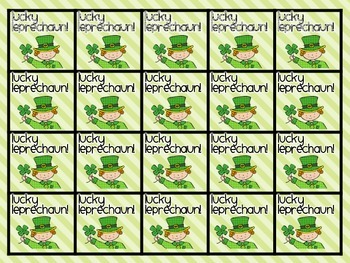 Dolch Sight Words: St. Patrick's Day Sight Word Game
