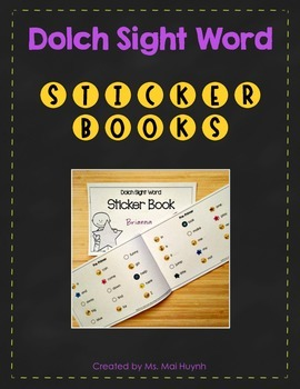 Sight Word Sticker Books