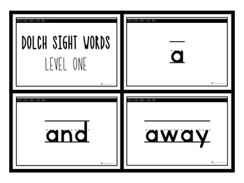 Dolch Levels 1-6 Sight Words