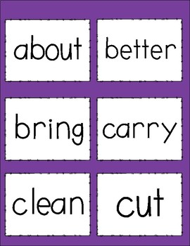 Dolch Sight Words - Third Grade