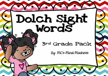 Dolch Sight Words Third Grade Pack