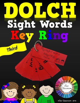 Dolch Sight Words Key Ring (Third Word List)