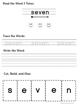 Dolch Sight Words Unit Grade 3