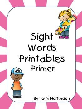 Dolch Sight Words Unit Primer Level