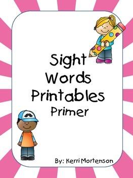 Dolch Sight Words Unit Primer Level