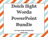 Dolch Sight Words Untimed PowerPoints Bundle