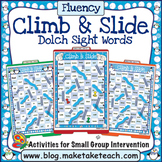 Dolch Sight Words - Winter Themed Climb & Slide